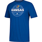 adidas Men's Kansas Jayhawks Blue On Court Ultimate Short Sleeve T-Shirt
