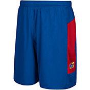 adidas Men's Kansas Jayhawks Blue Sideline Shorts