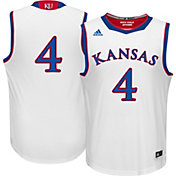 adidas Men's Kansas Jayhawks #4 White Replica Basketball Jersey