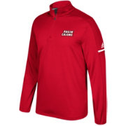 adidas Men's Louisiana LaFayette Ragin' Cajuns Red Sideline Long Sleeve Quarter-Zip Shirt