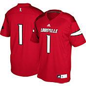 adidas Men's Louisville Cardinals #1 Cardinal Red Replica Football Jersey