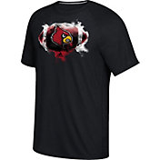 adidas Men's Louisville Cardinals Black Football Ultimate Short Sleeve T-Shirt