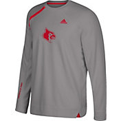 adidas Men's Louisville Cardinals Gray Basketball Shooting Shirt