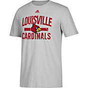 adidas Men's Louisville Cardinals Grey Performance T-Shirt