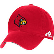 adidas Men's Louisville Cardinals Cardinal Red Sideline Coaches Adjustable Slouch Hat