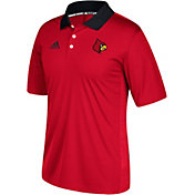 adidas Men's Louisville Cardinals Cardinal Red Sideline Coaches Polo
