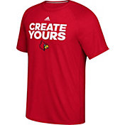 adidas Men's Louisville Cardinals Cardinal Red 'Create Yours' Basketball T-Shirt