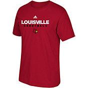 adidas Men's Louisville Cardinals Cardinal Red Cotton T-Shirt