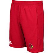 adidas Men's Louisville Cardinals Cardinal Red Knit Performance Shorts
