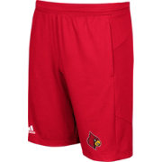 adidas Men's Louisville Cardinals Cardinal Red Knit Performance Shorts