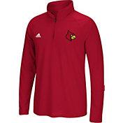 adidas Men's Louisville Cardinals Cardinal Red Long Sleeve Performance Quarter-Zip Shirt