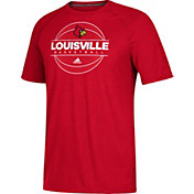 adidas Men's Louisville Cardinals Cardinal Red On Court Ultimate Short Sleeve T-Shirt