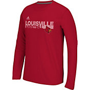 adidas Men's Louisville Cardinals Cardinal Red Sideline Grind Ultimate Long Sleeve Shirt