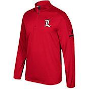 adidas Men's Louisville Cardinals Cardinal Red Sideline Long Sleeve Quarter-Zip Shirt