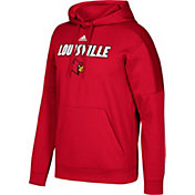 adidas Men's Louisville Cardinals Cardinal Red Team Issue Fleece Pullover Hoodie