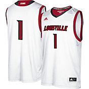 adidas Men's Louisville Cardinals #1 Replica Basketball White Jersey