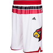 adidas Men's Louisville Cardinals Premier Replica Basketball White Shorts