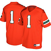 adidas Men's Miami Hurricanes #1 Organe Replica Football Jersey