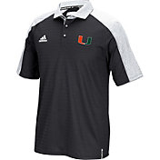 adidas Men's Miami Hurricanes Sideline Coaches Football Black Polo