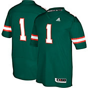 adidas Men's Miami Hurricanes #1 Green Premier Replica Football Jersey