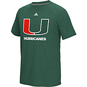 adidas Men's Miami Hurricanes Green Ultimate Short Sleeve T-Shirt