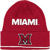 adidas Men's Miami Redhawks Red Cuffed Knit Hat