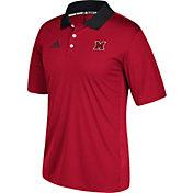 adidas Men's Miami Redhawks Red Sideline Coaches Polo