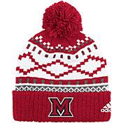 adidas Men's Miami Redhawks Cuffed Pom Knit Hat