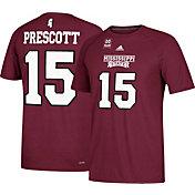 adidas Men's Dak Prescott Mississippi State Bulldogs #15 Maroon College Alumni Ultimate T-Shirt