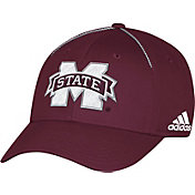 adidas Men's Mississippi State Bulldogs Maroon Sideline Coaches Structured Flex Hat