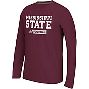 adidas Men's Mississippi State Bulldogs Maroon Sideline Gridiron Long Sleeve Shirt