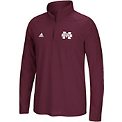 adidas Men's Mississippi State Bulldogs Maroon Logo Long Sleeve Quarter-Zip Shirt