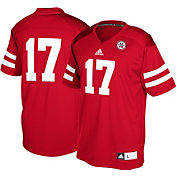 adidas Men's Nebraska Cornhuskers #17 Scarlet Replica Football Jersey
