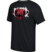 adidas Men's Nebraska Cornhuskers Black Football Ultimate Short Sleeve T-Shirt