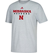 adidas Men's Nebraska Cornhuskers Grey Cotton T-Shirt