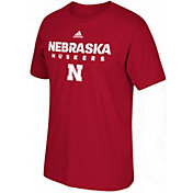 adidas Men's Nebraska Cornhuskers Red Cotton T-Shirt