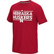 adidas Men's Nebraska Cornhuskers Scarlet Dassler Performance T-Shirt