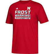 adidas Men's Nebraska Cornhuskers Red 'Frost Warning' Football T-Shirt