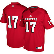 adidas Men's NC State Wolfpack #17 Red Replica Football Jersey