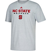 adidas Men's North Carolina State Wolfpack Grey Cotton T-Shirt