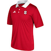 adidas Men's North Carolina State Wolfpack Red Sideline Coaches Polo