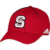 adidas Men's NC State Wolfpack Red Sideline Coaches Structured Flex Hat