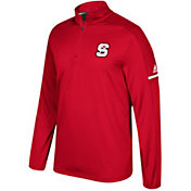 adidas Men's North Carolina State Wolfpack Red Sideline Long Sleeve Quarter-Zip Shirt