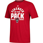 adidas Men's NC State Wolfpack Red 'Strength In The Pack' Ultimate Short Sleeve Performance T-Shirt