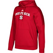 adidas Men's NC State Wolfpack Red Team Issue Fleece Pullover Hoodie