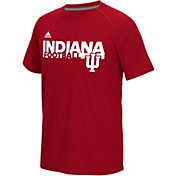 adidas Men's Indiana Hoosiers Crimson Sideline Grind Football Short Sleeve T-Shirt