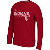 adidas Men's Indiana Hoosiers Crimson Sideline Grind Ultimate Long Sleeve Shirt