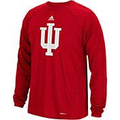 adidas Men's Indiana Hoosiers Crimson Sideline Spine Long Sleeve Shirt