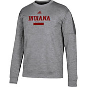 adidas Men's Indiana Hoosiers Grey Sideline Chiseled Team Issue Sweatshirt