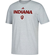 adidas Men's Indiana Hoosiers Grey Cotton T-Shirt